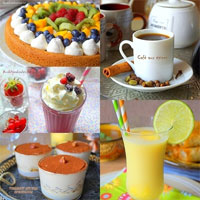 Boissons et desserts variés